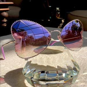 MARC JACOBS 60mm heart shaped mirrored sunglasses